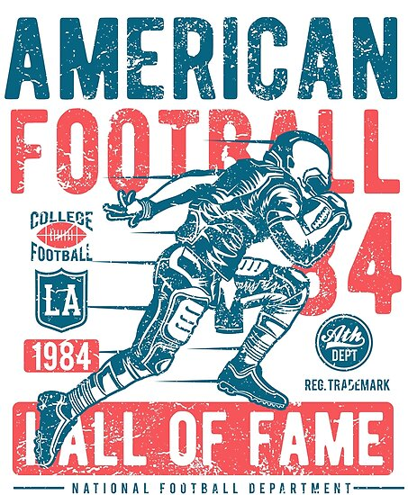 American Football Retro Vintage by Sven Horn