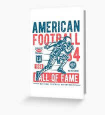 American Football Retro Vintage Greeting Card