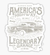 Oldtimer Car Retro Vintage Sticker
