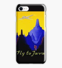 FLY to JAVA : Vintage Tourism Advertising Print iPhone Case/Skin