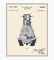 Space Capsule Patent - Colour Photographic Print