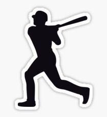 Baseball Player Silhouette - Batter - Black Sticker