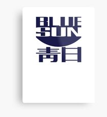 Blue Sun (original) Metal Print