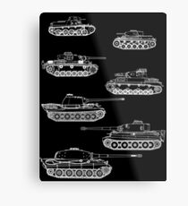 German Panzers of WWII Metal Print