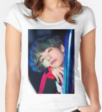 Kim Taehyung Women's Fitted Scoop T-Shirt