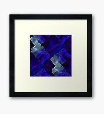 Watercolor chaotic shapes Framed Print