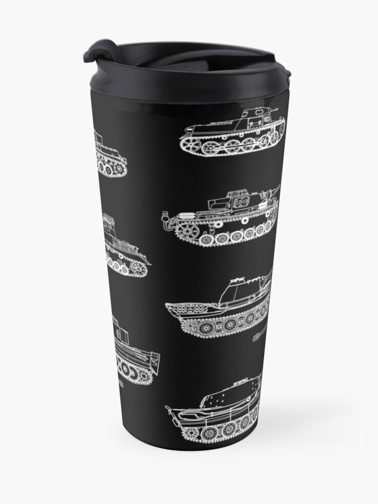 Alternate view of German Panzers of WWII Travel Mug