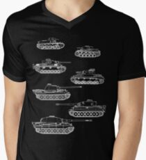 German Panzers of WWII Men's V-Neck T-Shirt