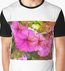 Pretty Pink Petunias Close Up Graphic T-Shirt