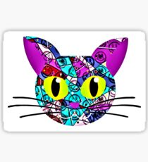 pop art funny cat Sticker