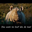 You want to live? We do to! by Shaun Swanepoel