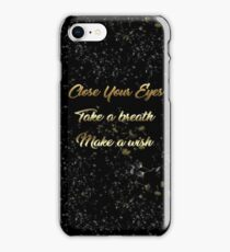 Make A Wish Typography iPhone Case/Skin