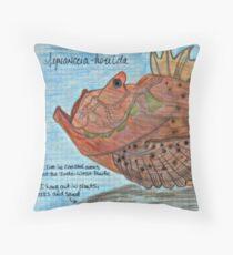 Stony the Estuarine Stonefish Throw Pillow