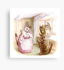Beatrix Potter Kittens Canvas Print
