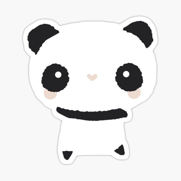 Kawaii panda pattern Sticker