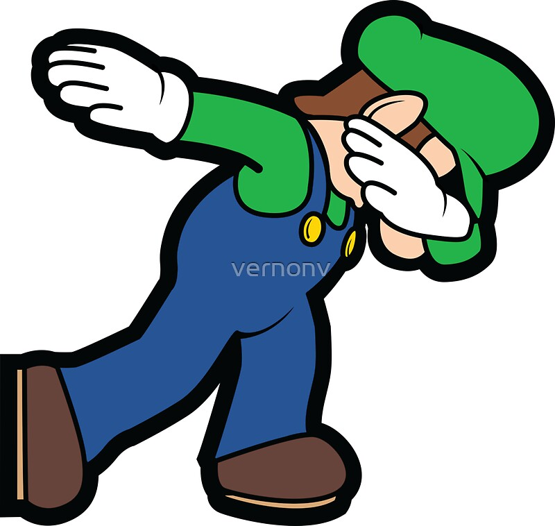 """""""Luigi Dab"""" Stickers by vernonv"""