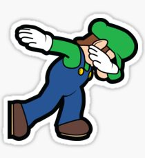 Luigi Dab Sticker