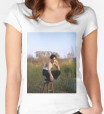 cole sprouse Women's Fitted Scoop T-Shirt