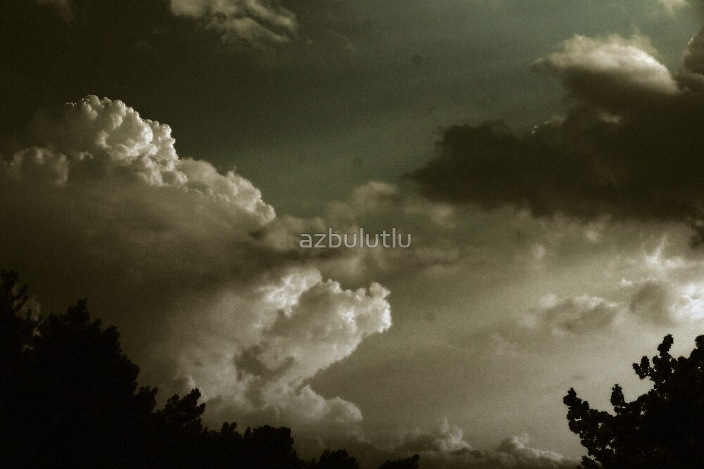 Sun behind the Clouds 2 by azbulutlu