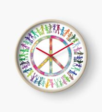 Peace Dance Clock