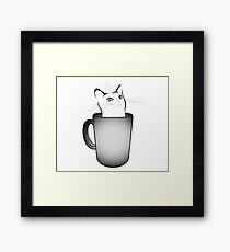 Iced White Chocolate Catto (For brighter colored items) Framed Print