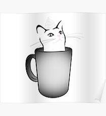 Iced White Chocolate Catto (For Bright Colored Items) Poster