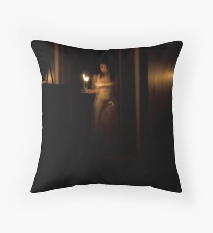 Ghostly Halls Throw Pillow
