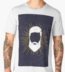 Hipster man hair and beard Men's Premium T-Shirt