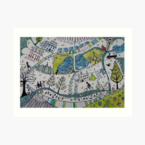 Carshalton village Art Print