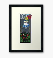 Alice in the Haunted Mansion Framed Print