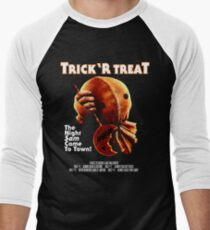 Trick 'r Treat Halloween Mashup T-Shirt Men's Baseball ¾ T-Shirt