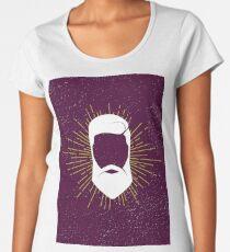 Hipster man hair, beard. Women's Premium T-Shirt