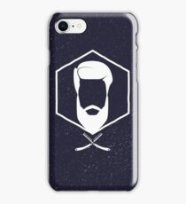 Hipster man hair and beard iPhone Case/Skin