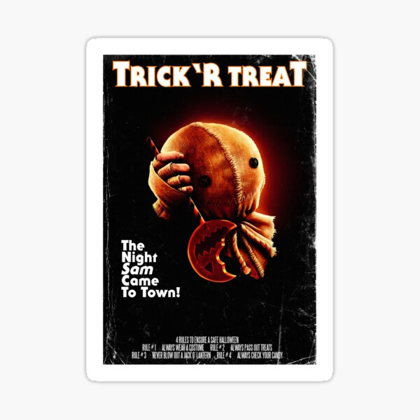 Trick 'r Treat Halloween Poster Sticker