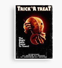 Trick 'r Treat Halloween Poster Canvas Print