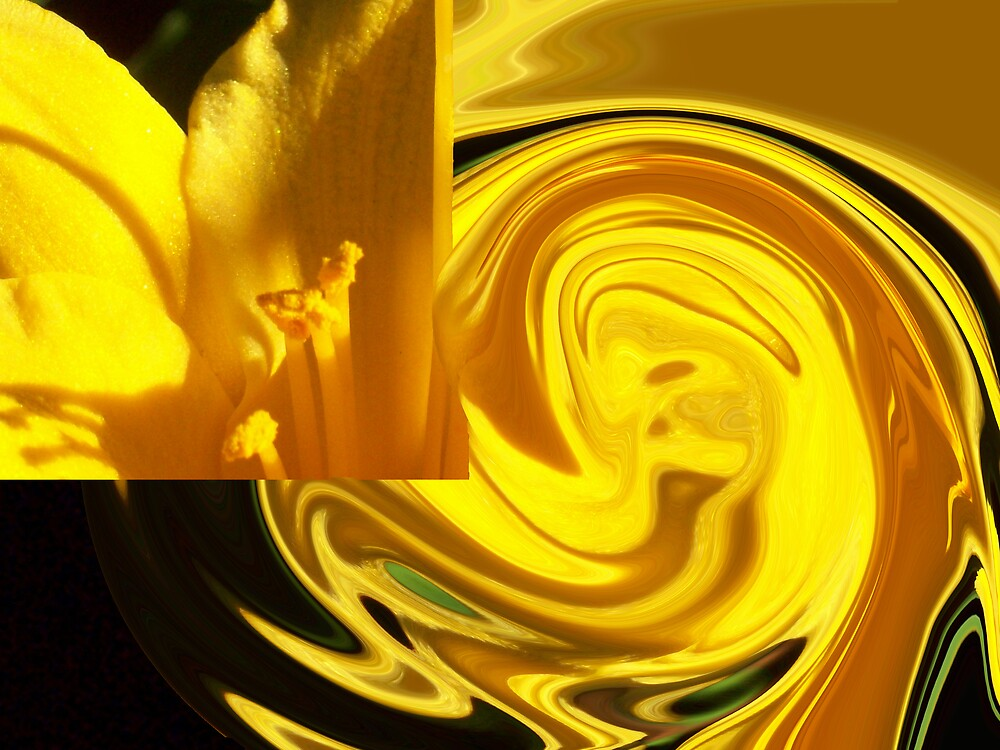 yellow lily swirl  by Michelle BarlondSmith