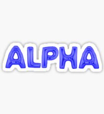 alpha blue Sticker