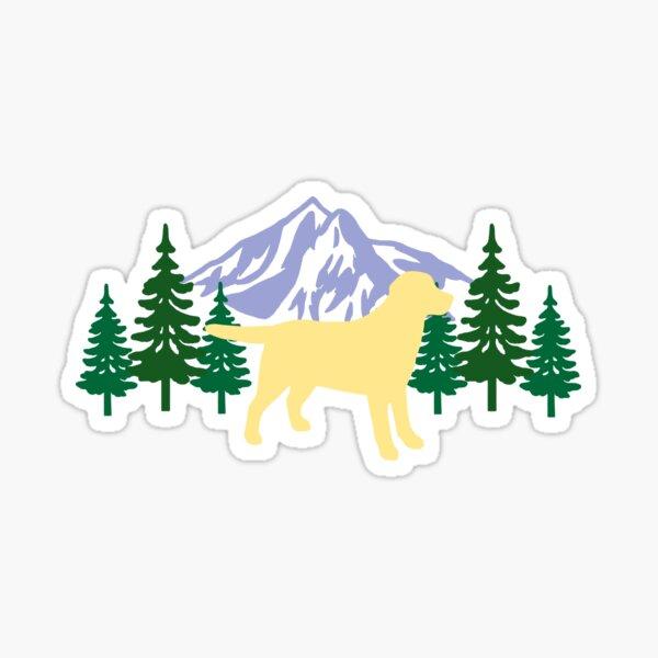 Yellow Labrador Silhouette Evergreen Sticker