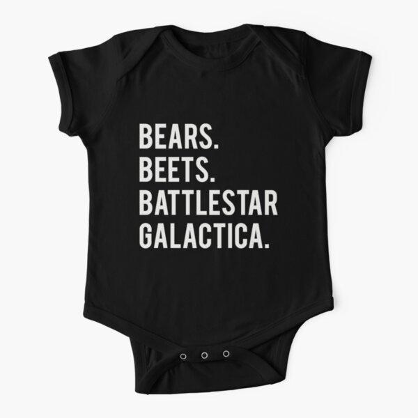 Bears Beets Battlestar Galactica! Short Sleeve Baby One-Piece