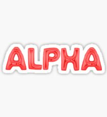 alpha red Sticker