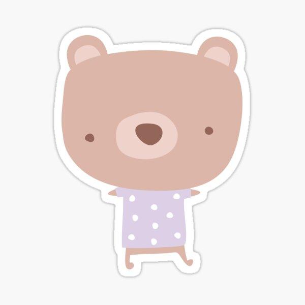 Kawaii pastel bears Sticker