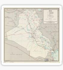 Map of Iraq (1967) Sticker