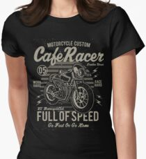 Cafe Racer Motorcycle Retro Vintage Women's Fitted T-Shirt