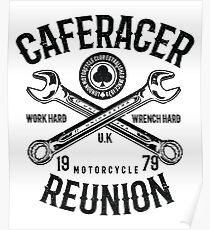 Cafe Racer Motorcycle Retro Vintage Poster
