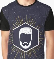 Hipster man hair and beard Graphic T-Shirt