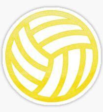 Volleyball Gelb Sticker
