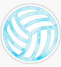 Vollyball Blau Sticker