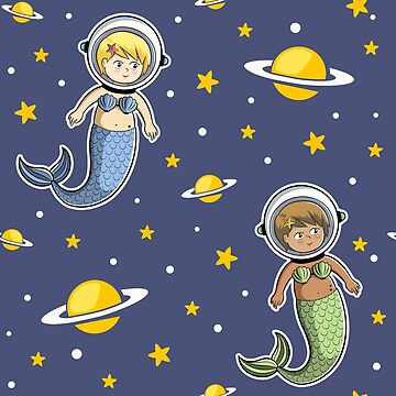 Space Mermaids Pattern by sirwatson
