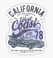 California West Coast Car Retro Vintage Sticker