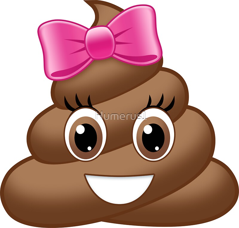 emoji poop cute bow pink stickers redbubble